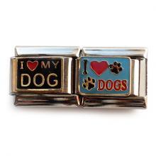 """Звено с надписью """"Люблю собак"""""""
