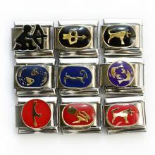 Звенья с символами года и зодиаками
